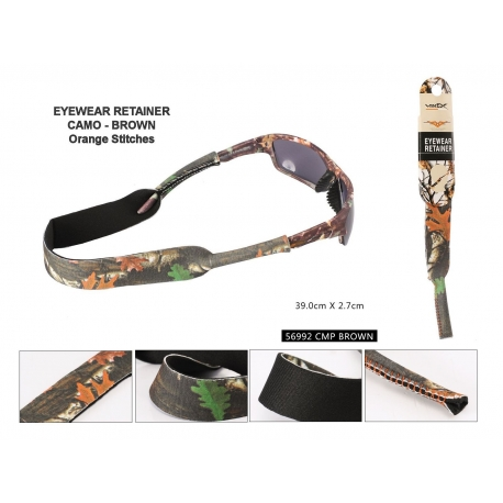 Camouflage Sunglasses Retainer - 56992brown