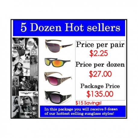 5 Dozen Hot Sellers Package