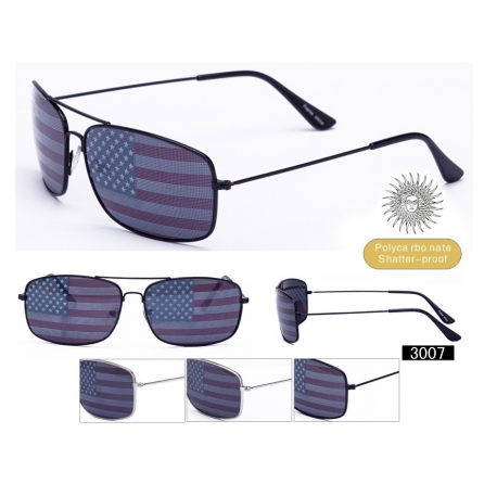 American Flag Aviator Sunglasses - 3007