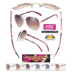 Pink Camouflage Polarized Sunglasses - 56601cmpinkpol