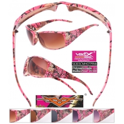 Camouflage Pink Sunglasses - 56303cmhotpink