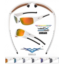 VertX Sport Polarized Sunglasses White Frames - 5014