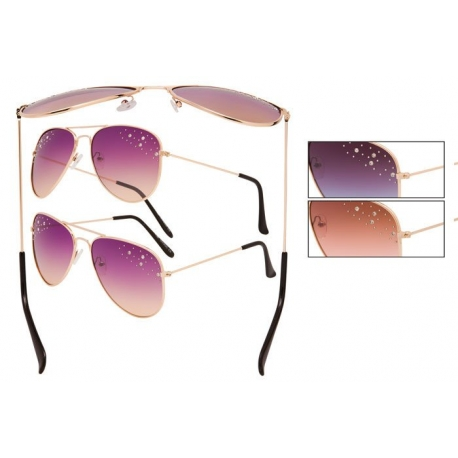 Vox Aviator Sunglasses with Rhinestones - 66036