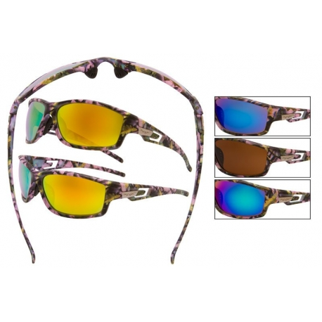 Pink Camouflage Sunglasses - 56018pink