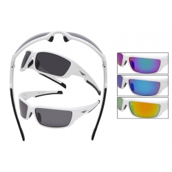 Polarized Sport White Sunglasses by VertX 5132
