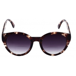 Womens Round Cat Eye Bifocal Sunglasses