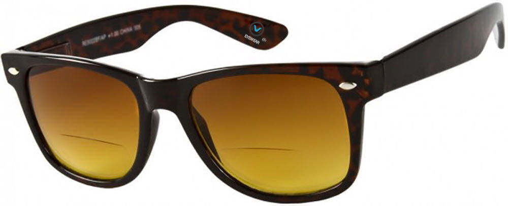 3 Pair of Classic Wayfarer Bifocal Sunglasses