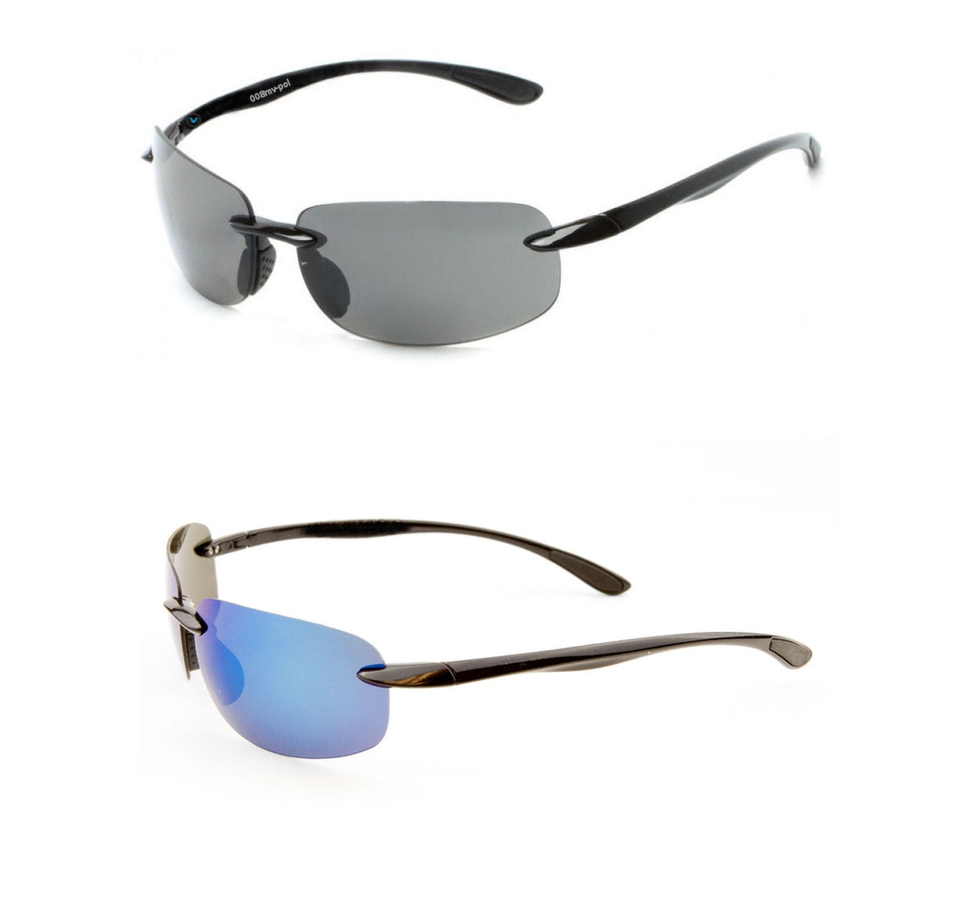 2 Pair of Lovin Maui Casual Wrap Around Polarized Sunglasses - TR90 Frames
