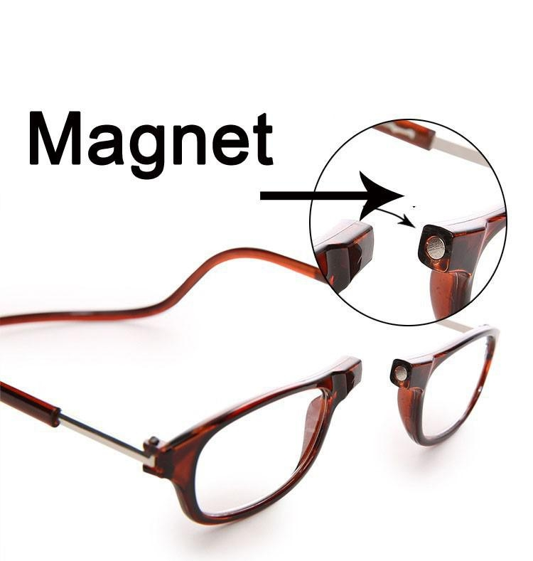 2 Pair of Click Magnetic Adjustable Reading Glasses