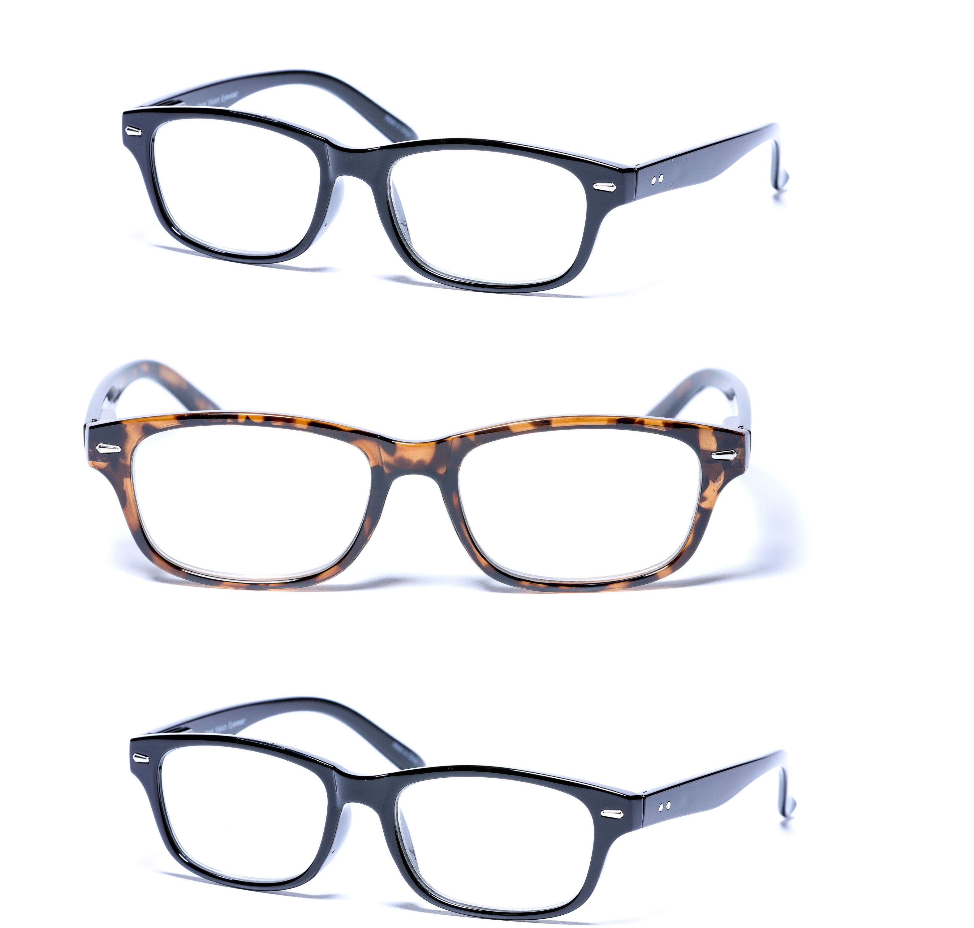 3 Pair of the The Intellect Unisex Reading Glasses
