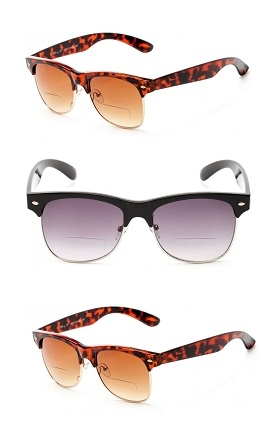 3 Pair of Classic The Established Bifocal Unisex Reading Sunglasses - Soft Pouches Included